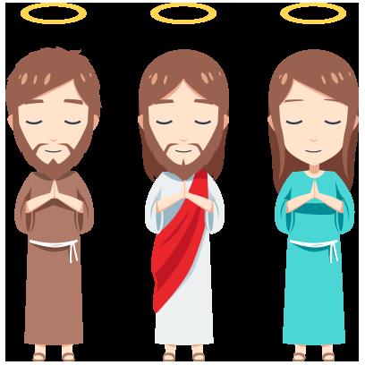 Pocket Jesus Sticker and Emojis messages sticker-4