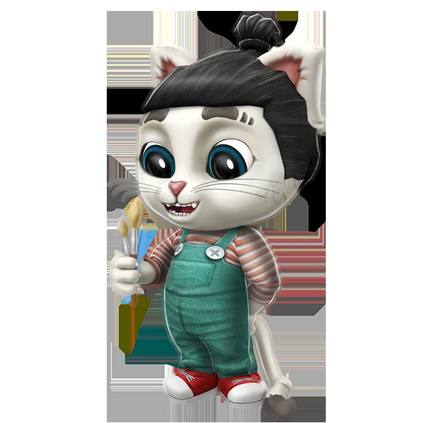 Oscar the Cat - Virtual Pet messages sticker-0