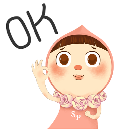 Little Pat Cute Girl by S&P messages sticker-5