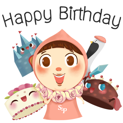 Little Pat Cute Girl by S&P messages sticker-2