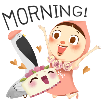 Little Pat Cute Girl by S&P messages sticker-4