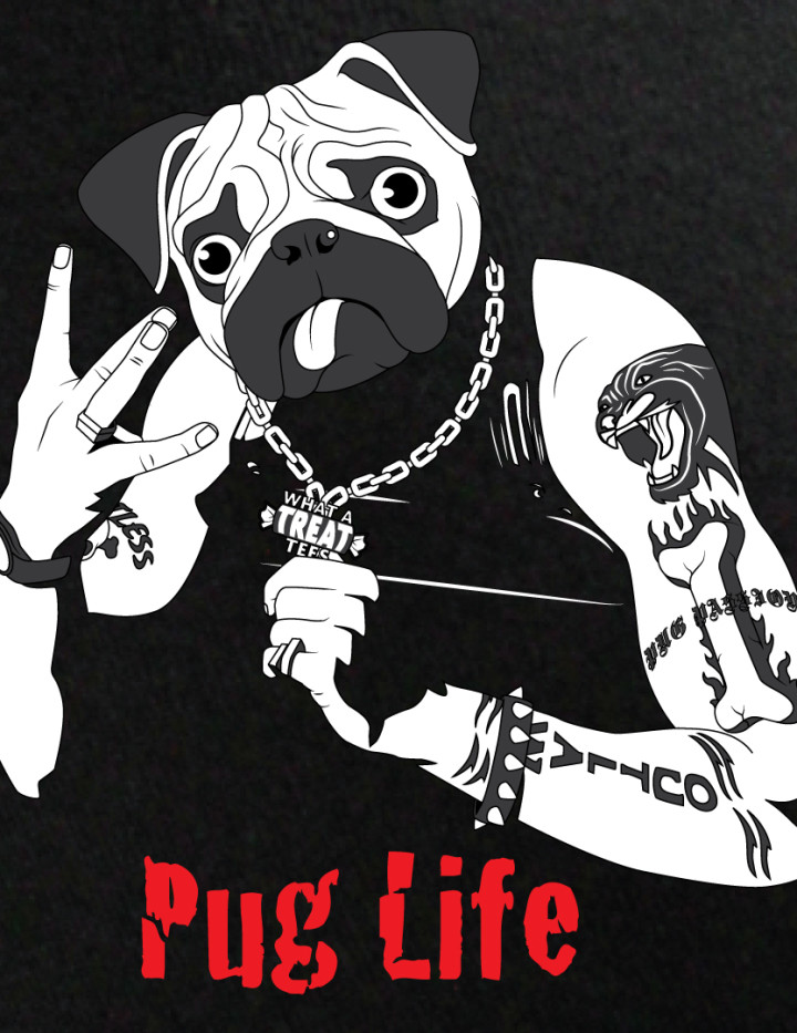 Thug Life & Pug Life Stickers messages sticker-6