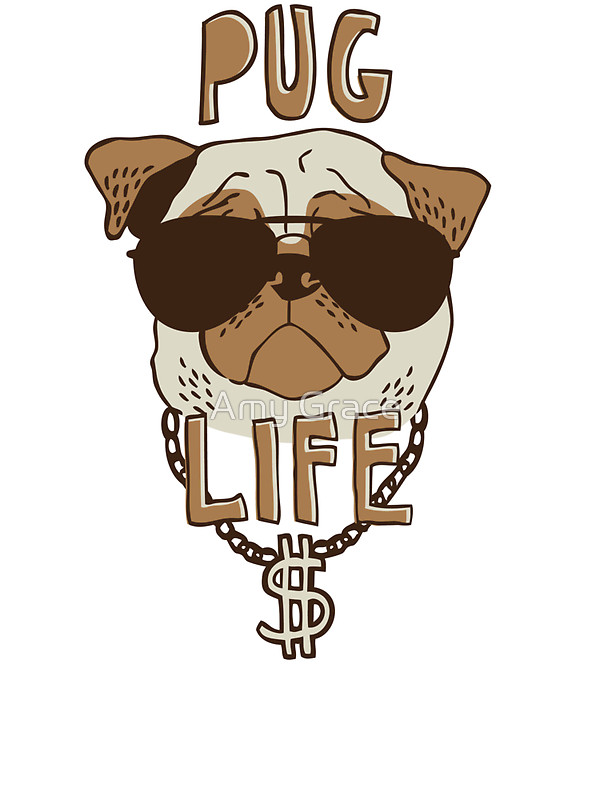 Thug Life & Pug Life Stickers messages sticker-0