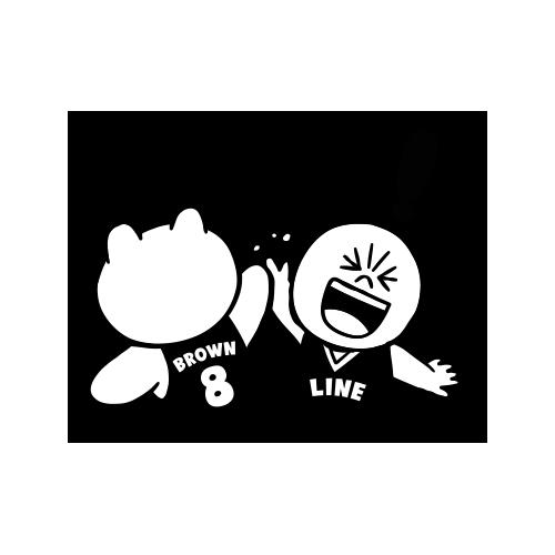 LINE FRIENDS Dynamic Stickers messages sticker-6