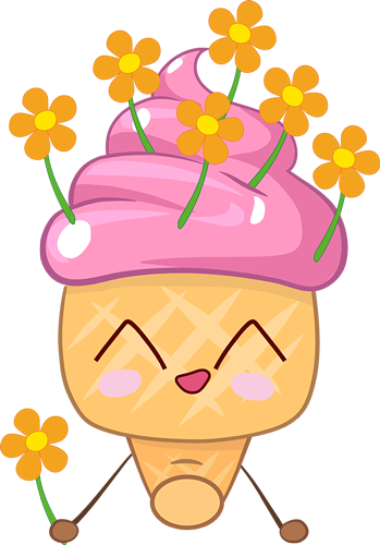 Ice cream - Very cute stickers messages sticker-11