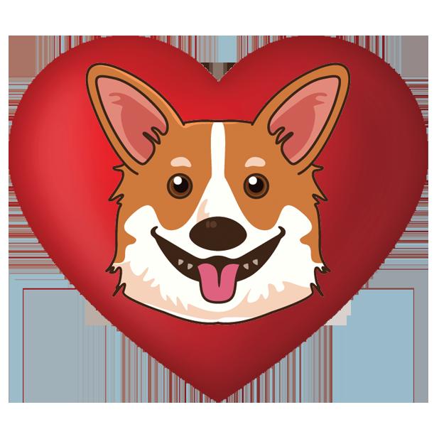 CorgiMoj - Corgi Emoji & Stickers messages sticker-7