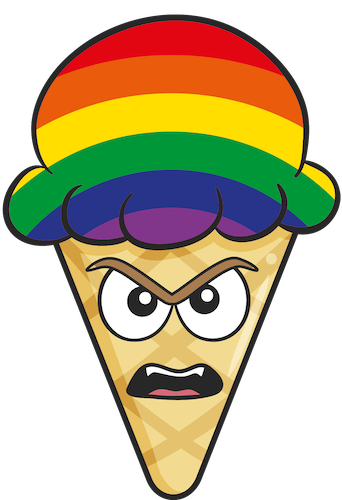 GAY PRIDE Ice Cream Cone Emoji Stickers messages sticker-8