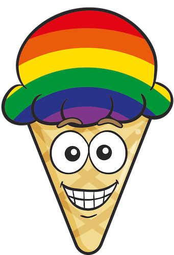 GAY PRIDE Ice Cream Cone Emoji Stickers messages sticker-1
