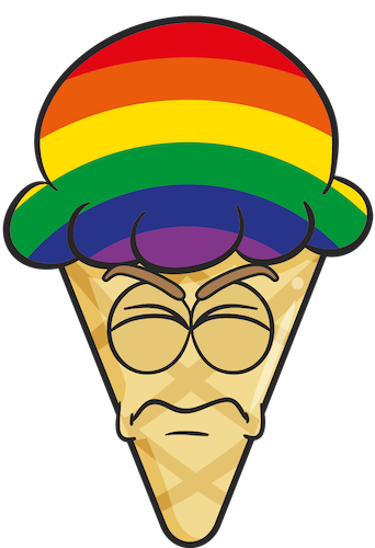 GAY PRIDE Ice Cream Cone Emoji Stickers messages sticker-3
