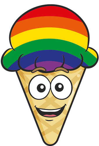 GAY PRIDE Ice Cream Cone Emoji Stickers messages sticker-0