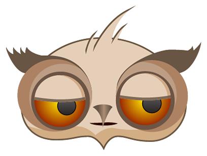 Amusing Owl Stickers messages sticker-5