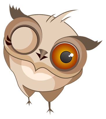 Amusing Owl Stickers messages sticker-1