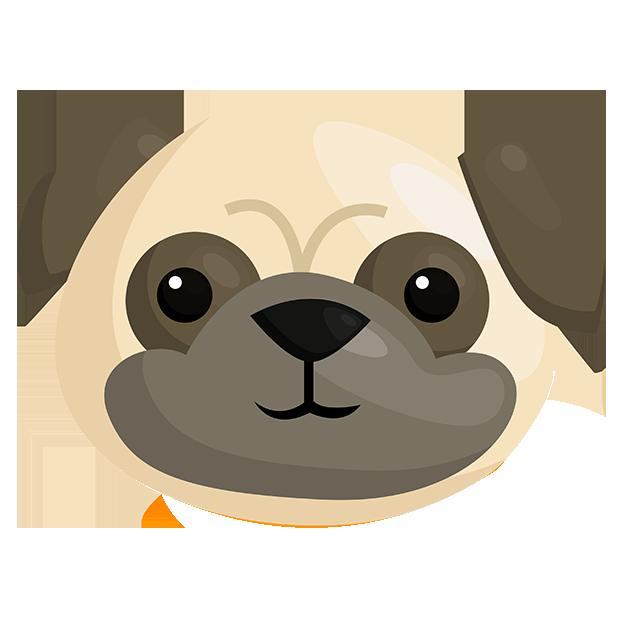 PugMojis - Pug Emoji & Sticker messages sticker-11