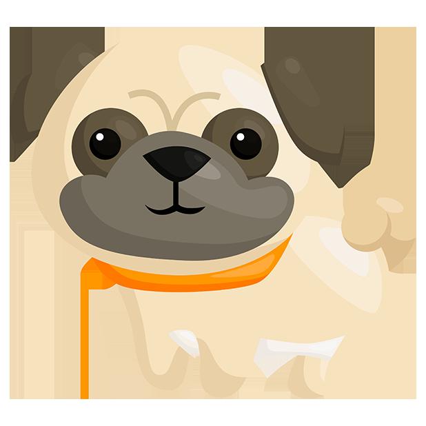 PugMojis - Pug Emoji & Sticker messages sticker-1