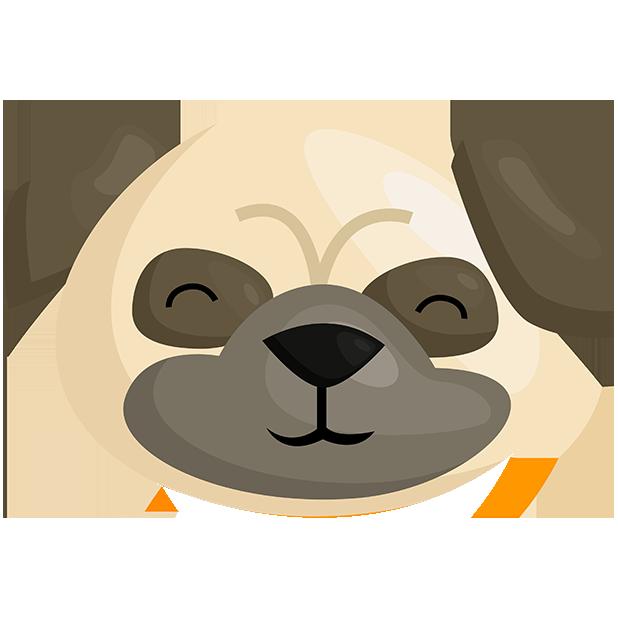 PugMojis - Pug Emoji & Sticker messages sticker-10