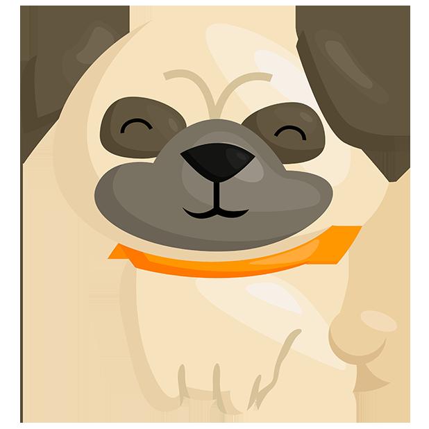 PugMojis - Pug Emoji & Sticker messages sticker-0