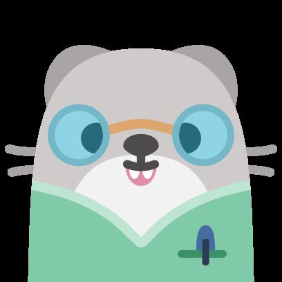 Baubau the little Weasel messages sticker-1