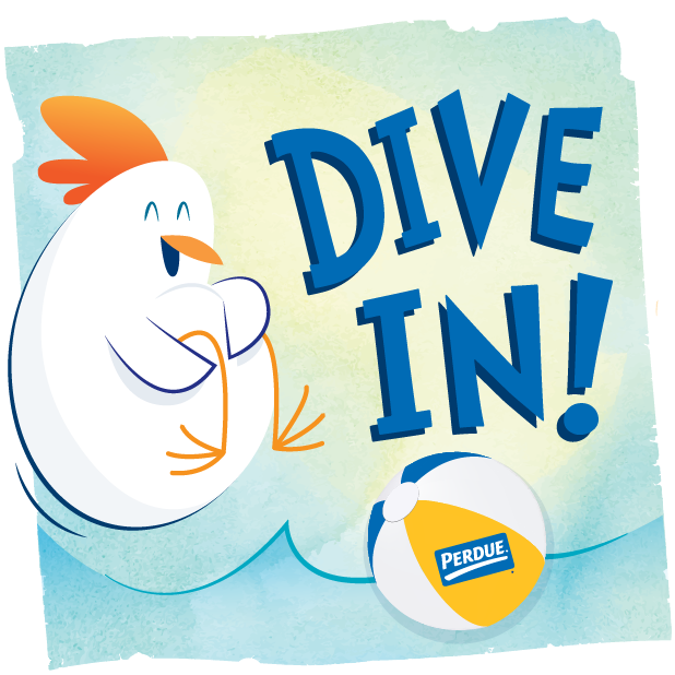 PERDUE® Chicken: Summer Chick-moji messages sticker-0