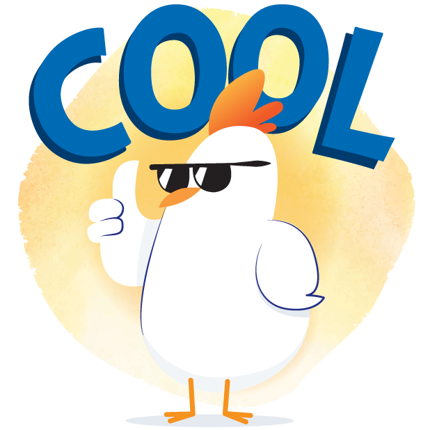 PERDUE® Chicken: Summer Chick-moji messages sticker-1