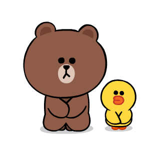 LINE FRIENDS Cute and Soft messages sticker-1