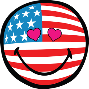 Smiley American Flags messages sticker-9
