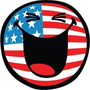 Smiley American Flags messages sticker-1