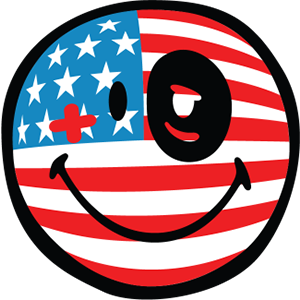 Smiley American Flags messages sticker-6