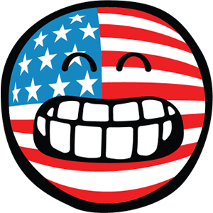 Smiley American Flags messages sticker-3