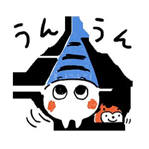 しゃっぽくんステッカーNO.1(ふれふれしゃっぽくん) messages sticker-2