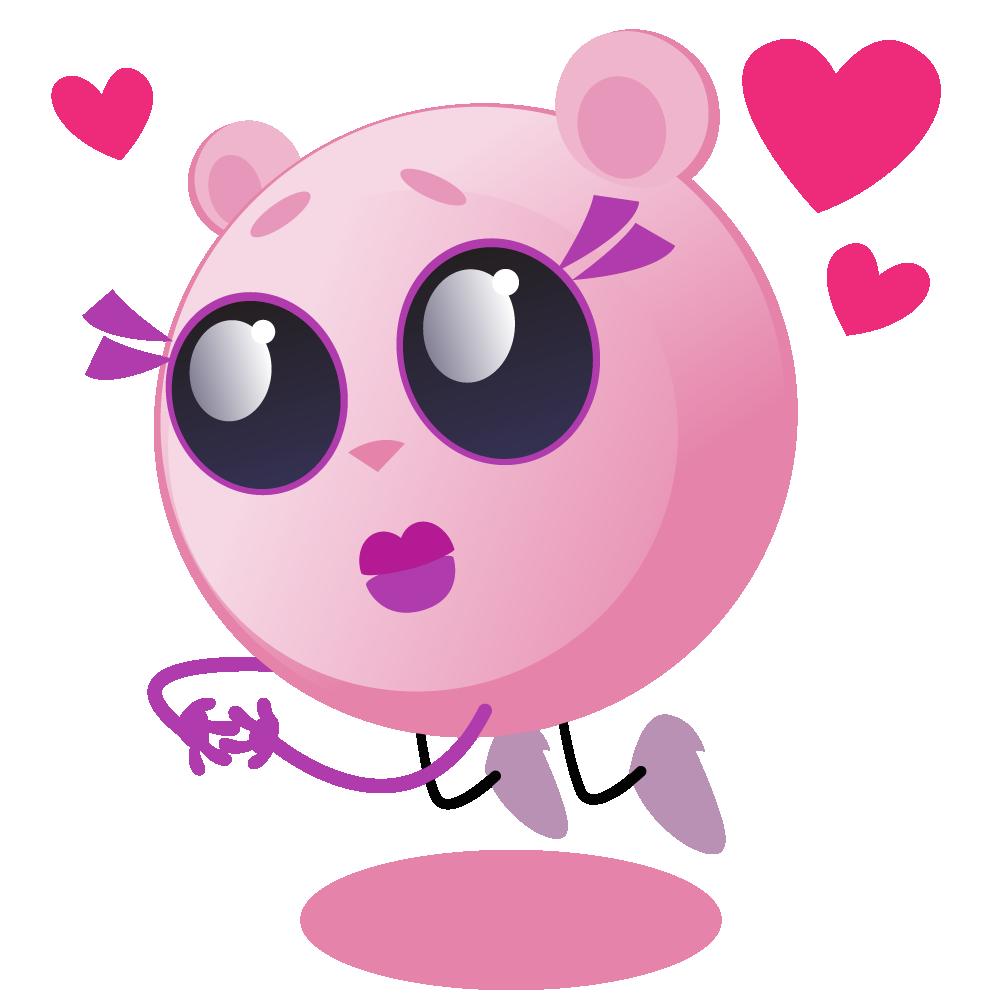 Cutie Pink - emoji stickers messages sticker-8