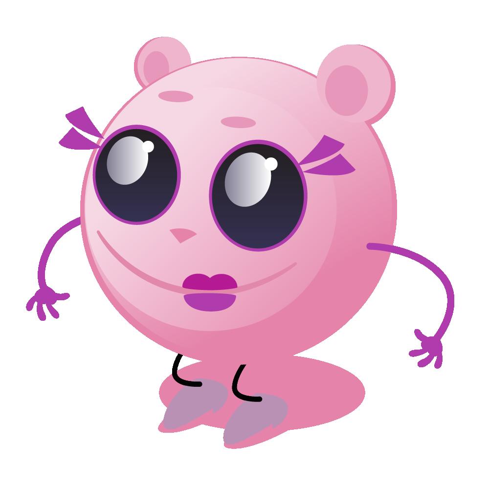 Cutie Pink - emoji stickers messages sticker-0