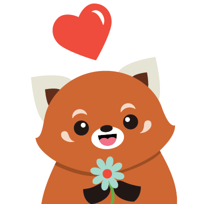 Red Panda Sticker Pack messages sticker-0
