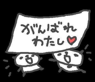 優しいパンダのステッカー messages sticker-0