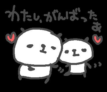 優しいパンダのステッカー messages sticker-7