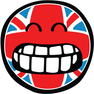 Smiley British Flags messages sticker-3