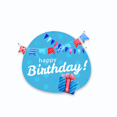 Birthday Stickers For you! messages sticker-2