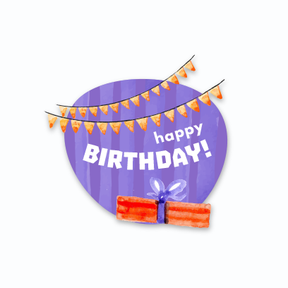 Birthday Stickers For you! messages sticker-8
