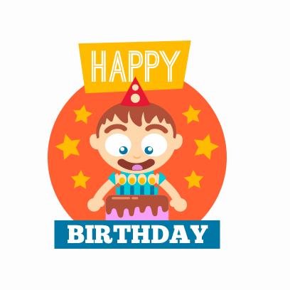 Birthday Stickers For you! messages sticker-4