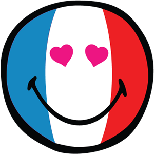Smiley French Flags messages sticker-9