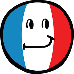 Smiley French Flags messages sticker-2