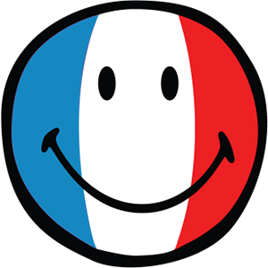 Smiley French Flags messages sticker-0