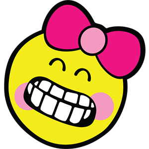 Smiley Girl Stickers messages sticker-3