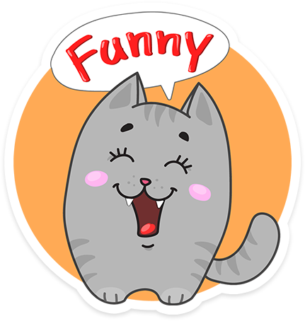 Funny cats - Cute stickers messages sticker-1