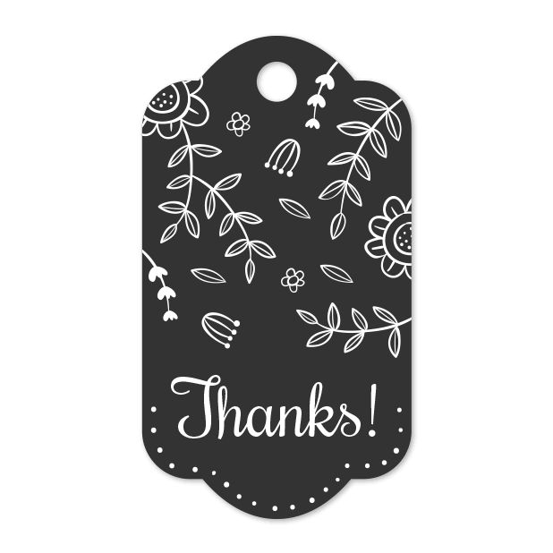 Thank You Labels Set in Minimal & Vintage Style messages sticker-0