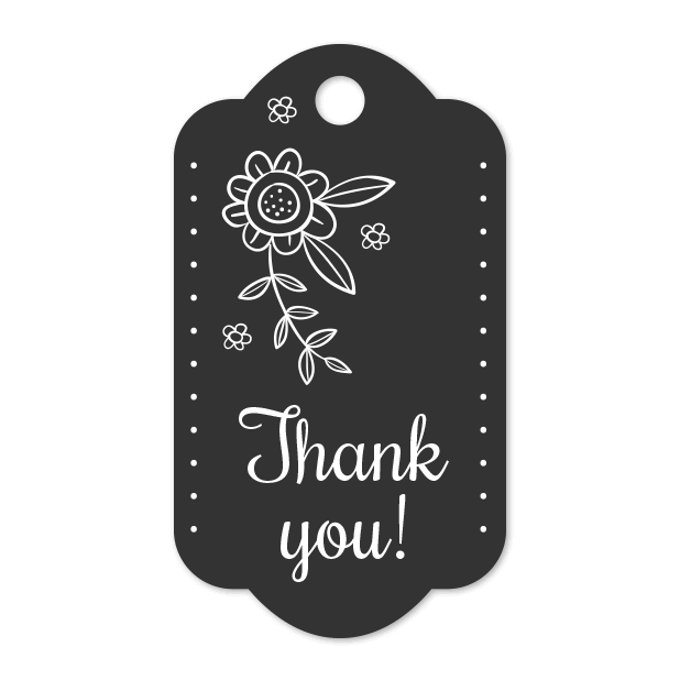 Thank You Labels Set in Minimal & Vintage Style messages sticker-3