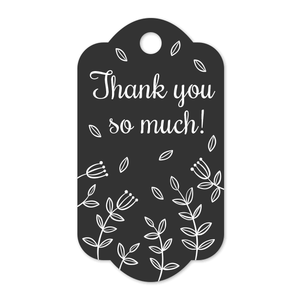 Thank You Labels Set in Minimal & Vintage Style messages sticker-1