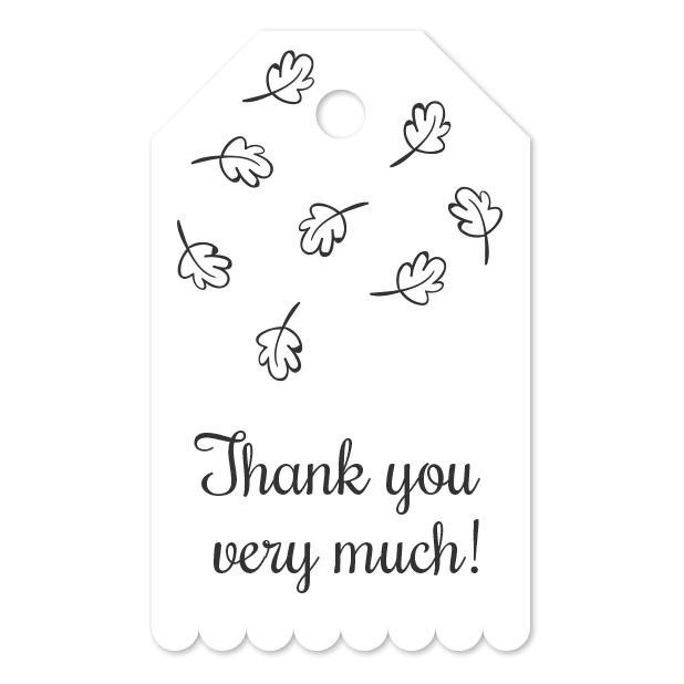 Thank You Labels Set in Minimal & Vintage Style messages sticker-8
