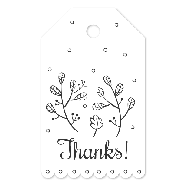 Thank You Labels Set in Minimal & Vintage Style messages sticker-9