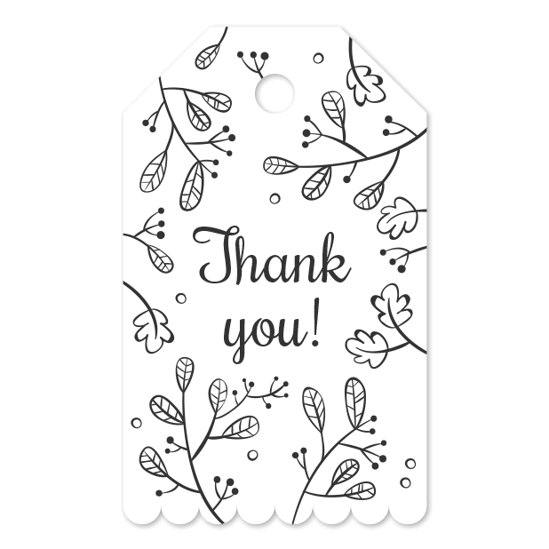 Thank You Labels Set in Minimal & Vintage Style messages sticker-6