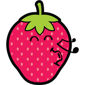 Smiley Strawberries messages sticker-3